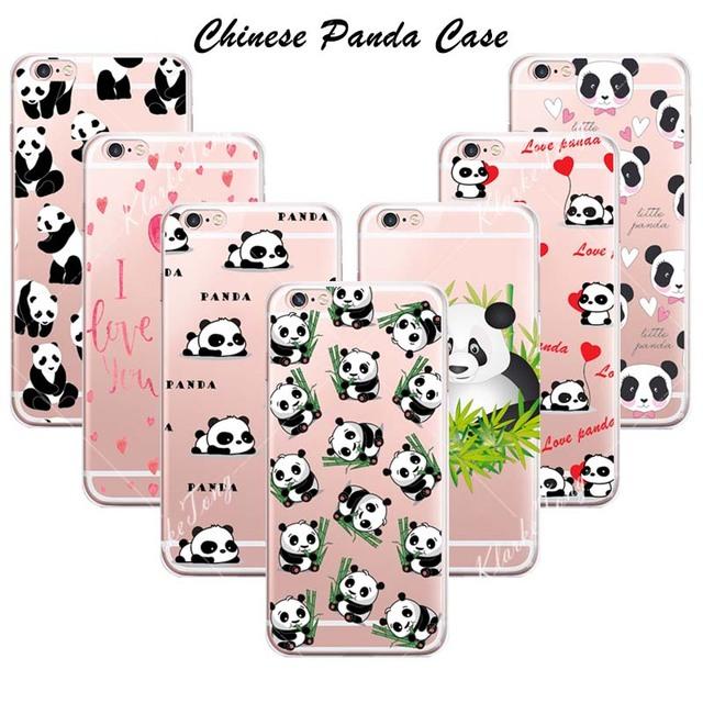 Etui iPhone 5/5S/6/6S/6Plus/7/7Plus Panda różne wzory
