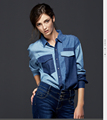 2016 hot women clothes patchwork denim shirt jeans shirt loose female spring autumn jeans dress vestidos