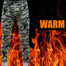 2015 winter men long johns army style camouflage print Thermal Underwear sexy cotton long johns warm underpants legging tight(China (Mainland))