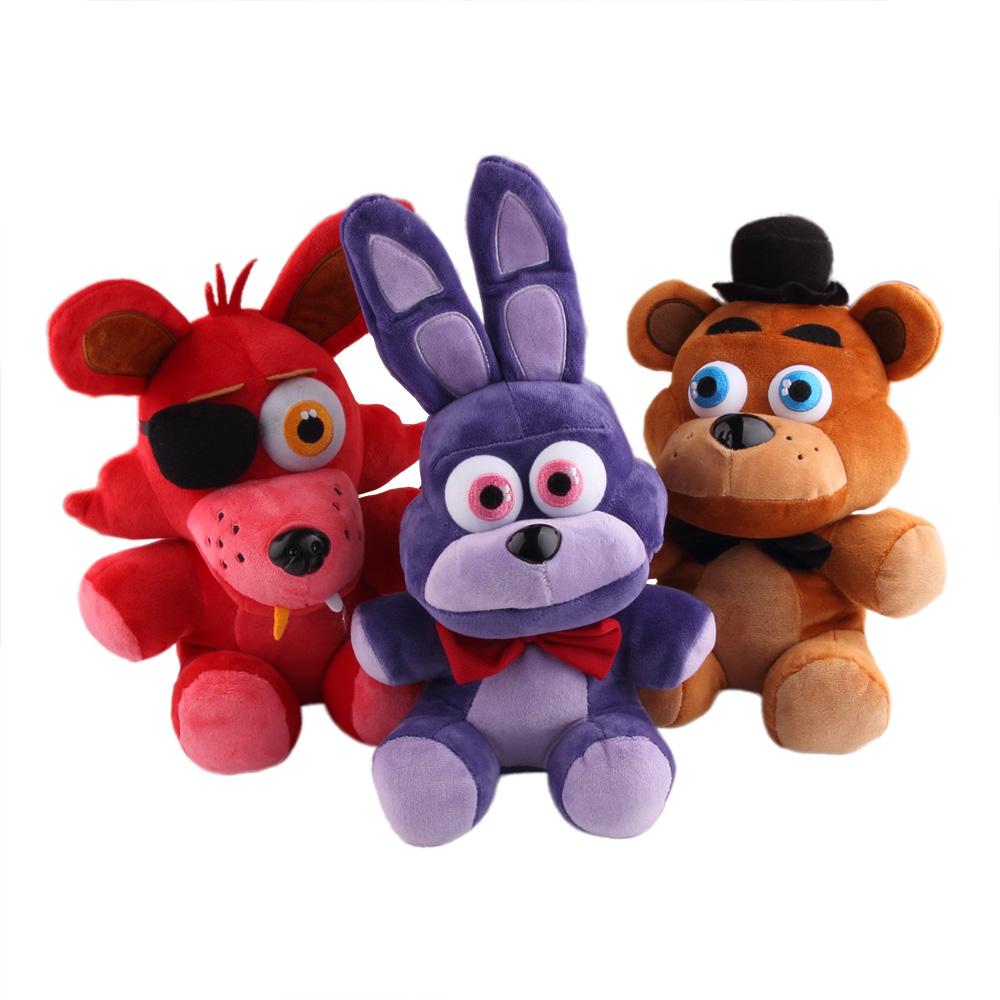 """In Stock Official Five Nights At Freddy's 4 FNAF Bonnie Foxy Freddy Fazbear Bear Plush Toys Doll 10""""(China (Mainland))"""