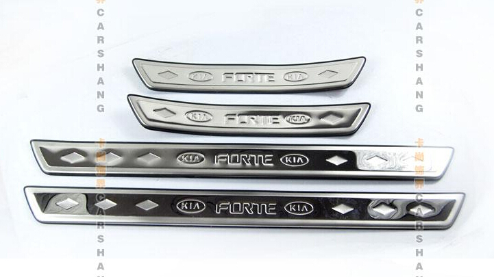 2009-2012 KIA Cerato/Forte stainless steel Scuff Plate/Door Sill - Blessing car decoration store