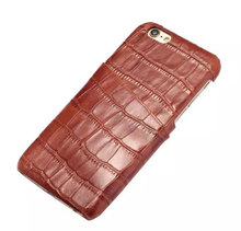 New Arrive Genuine Leather Crocodile Wallet Case for iPhone 6/6s 4.7 inch Cellphone Cover Card Holder Cases 4 colors DLS-013