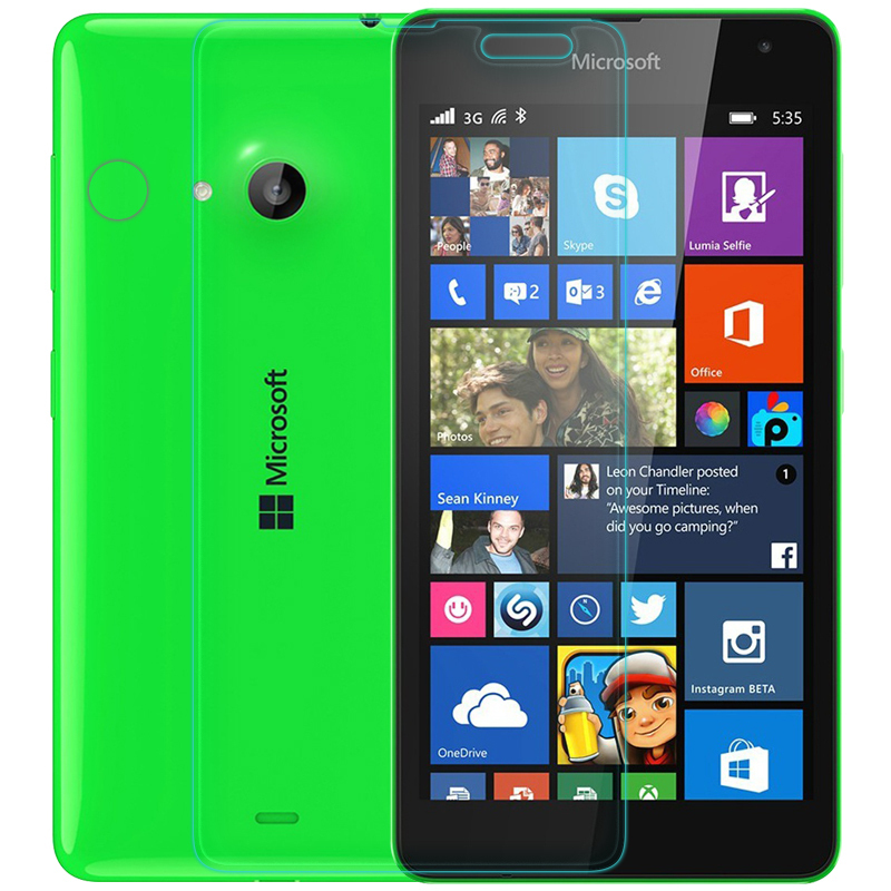 Гаджет  Amazing 9H 0.3mm 2.5D Nanometer Tempered Glass screen protector for Microsoft Nokia Lumia 535 None Телефоны и Телекоммуникации
