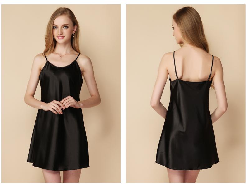 2017 Women Sexy Lingerie Sleepwear Solid Color Sleeveless Sling Nightgowns Plus Size Female Mini Night Dress Sleep Shirt