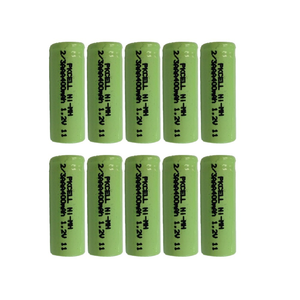 10Pcs 1.2v 2/3aaa 400mah rechargeable NIMH battery in flat top, non PCM, in industrial pvc packing(China (Mainland))