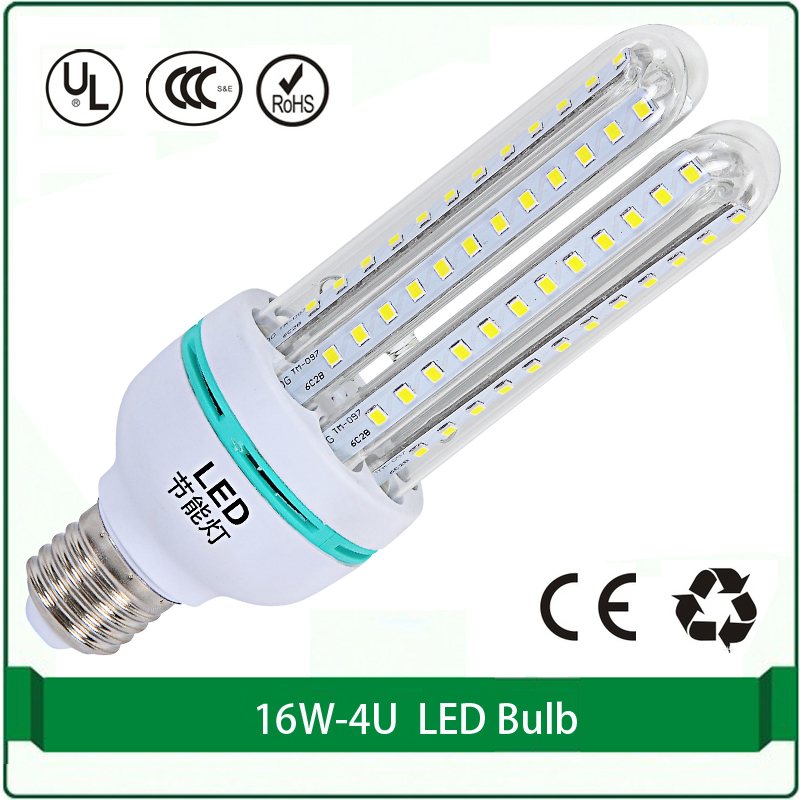 16W LED energy saving CFL 4U free shipping 1 pieces only corn led lamp bulb E27 B22 corn 3200k 6500k led corn bulbs(China (Mainland))