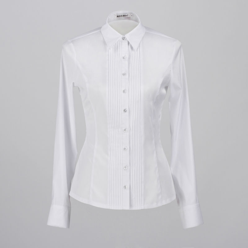White Long Sleeve Button Up Shirt Womens | Is Shirt