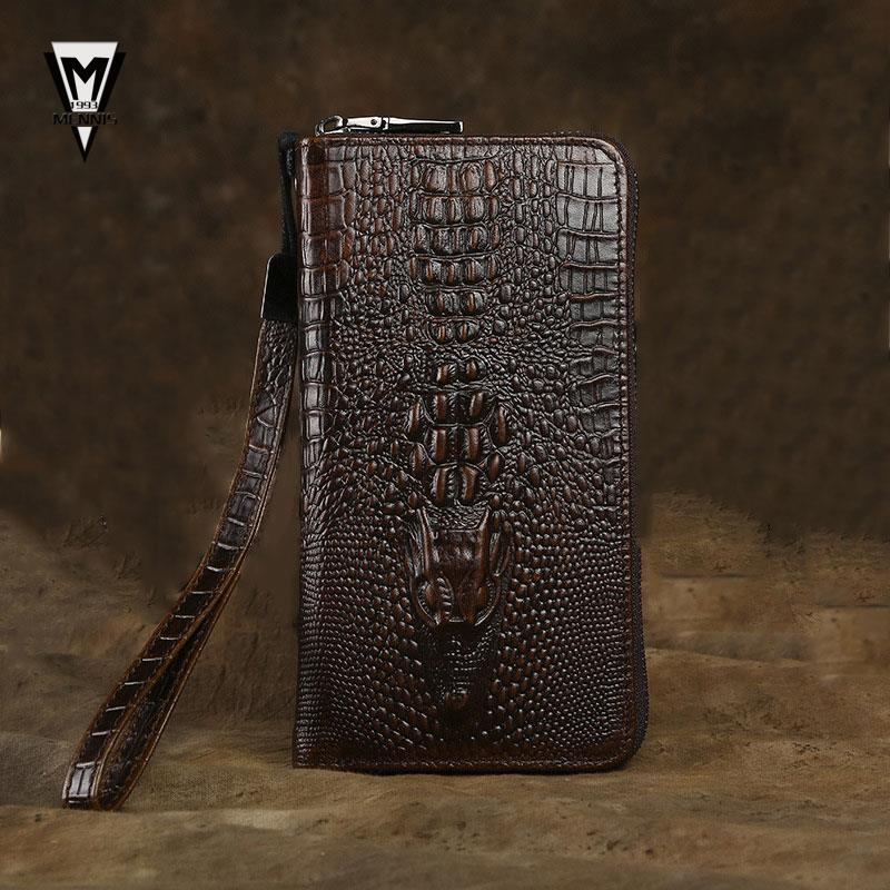 2015 new Men's Fashion 100% genuine leather clutch bags men's men's clutch bag wallet phones New arrival Brand brown(China (Mainland))
