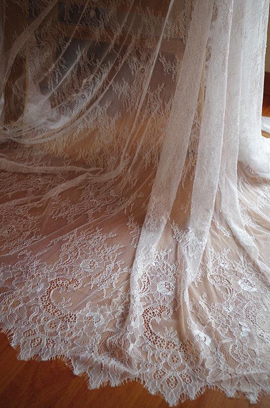 Compra tela de encaje chantilly online al por mayor de - Chantilly telas ...