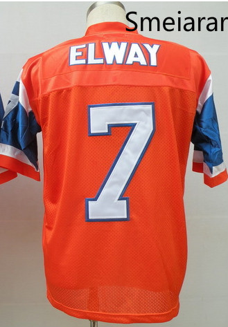 #7 Elway shirts jersey ,Throwback Football Jersey,Best quality,Size M--3XL,Accept Mix Order(China (Mainland))
