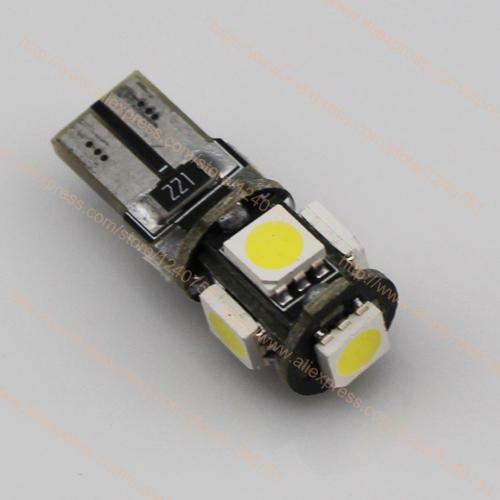 FREE SHIPPING T10 5 LED SMD 5050 FREE ERROR,T10 W5W CAR LIGHT LED,501 168 LED AUTO BULB,194 LED CANBUS(China (Mainland))