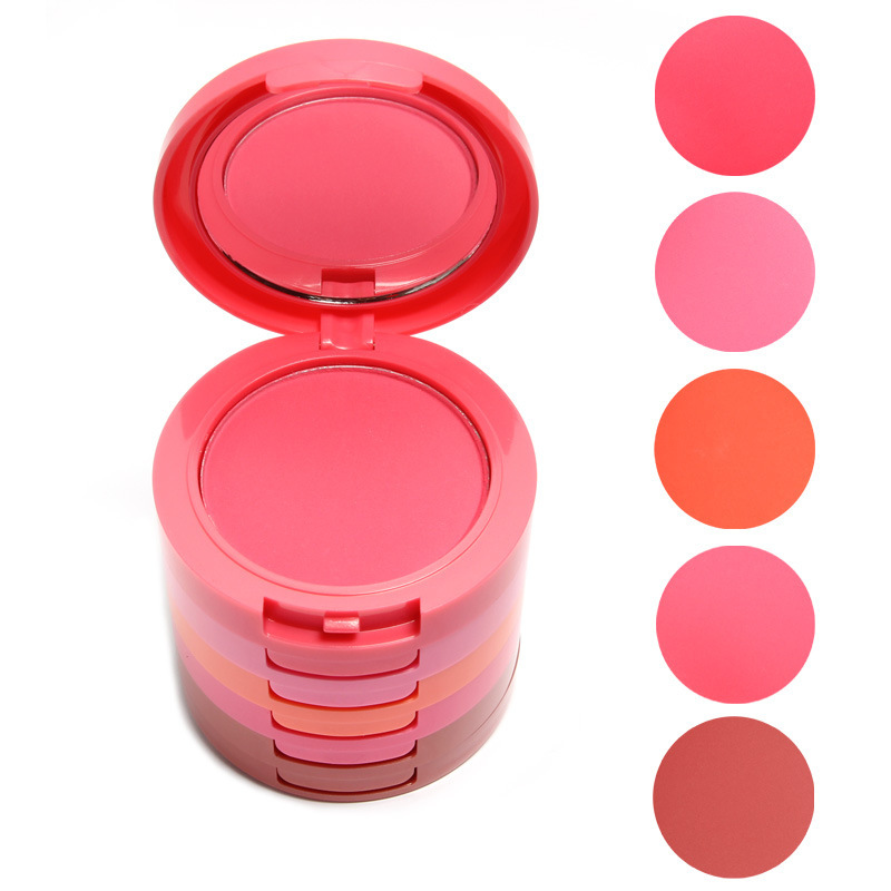 Music flower 5-color blusher,long-lasting,brand makeup palette,cosmetic wholesale.(China (Mainland))