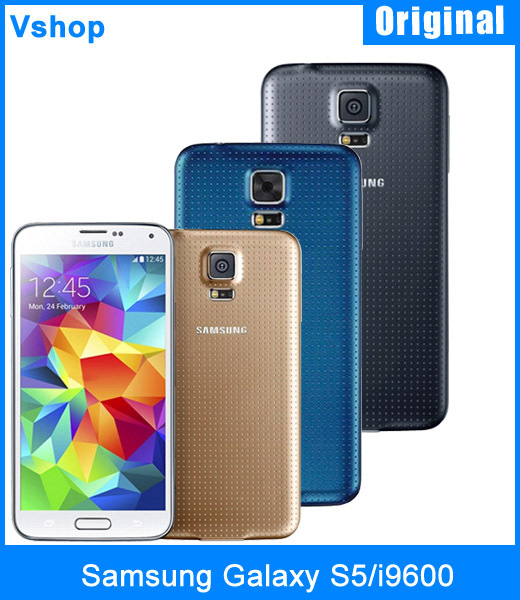 "On Sale Original Samsung Galaxy S5 I9600 2GB+16GB Quad Core NFC 5.1"" Cell Phones Unlocked 16.0 MP Smartphone FDD-LTE+WCDMA+GSM(China (Mainland))"