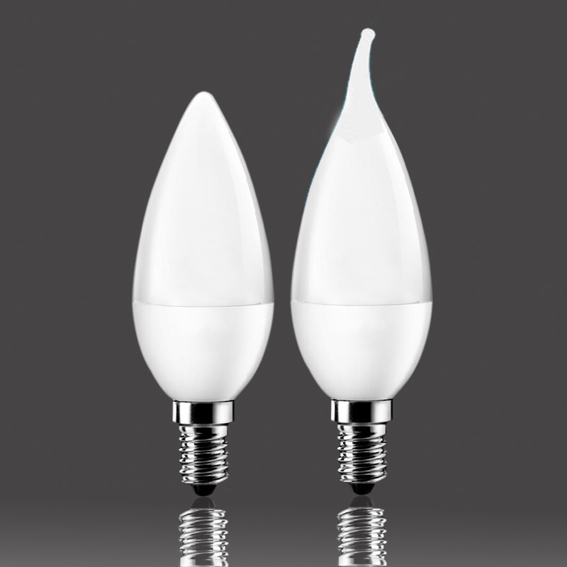 LED Candle Lamp 10leds SMD2835 Chip LED E14 LED Candle Light AC220-240V LED Bulb Warm White/White Energy Saving 1pc ZK93(China (Mainland))