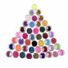 Paradise 2016 Hot 45 Colors Nail Art Make Up Body Glitter Shimmer Dust Powder Decoration Free Shipping May09(China (Mainland))