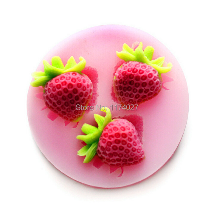 Free shipping strawberry Silicone mold silicon cake mould Fondant Decorating Tools kitchen accessories(China (Mainland))
