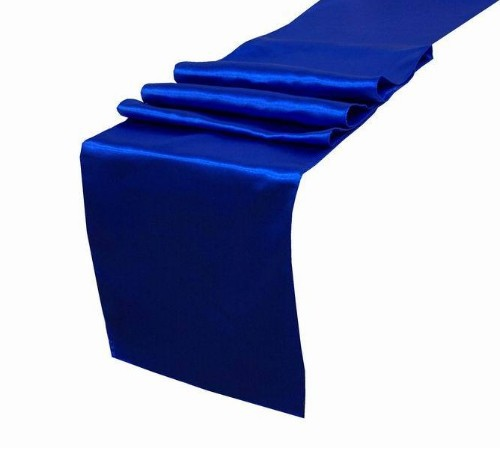 """25PCS Royal Blue Satin Table Runners 12"""" x 108"""" Wedding Party Decorations,party decoration Wholesale,best price Free shipping(China (Mainland))"""