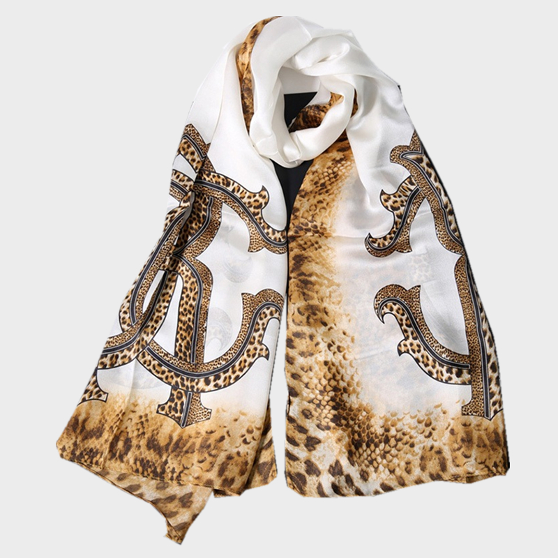 Summer Style Women Scarves High Quality Simple Silk Ladies Leopard Scarf Echarpe & Poncho For Women Beach Shawls With Printing(China (Mainland))