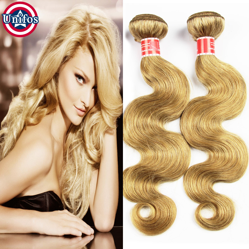 Blonde Brazilian Body Wave Single Bundle Blonde Hair Extensions Blonde Human Hair Weave Best Honey Blonde Brazilian Virgin Hair