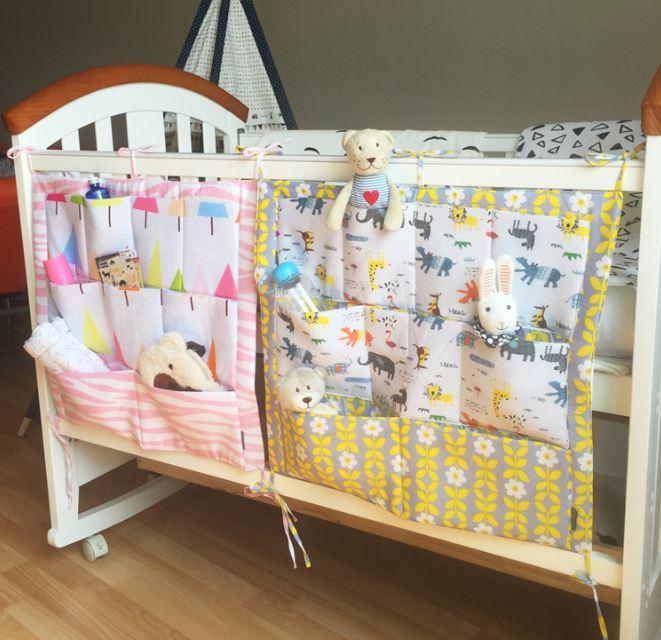 font b Baby b font Cot Bed Hanging Storage Bag Crib Organizer 60 50cm font