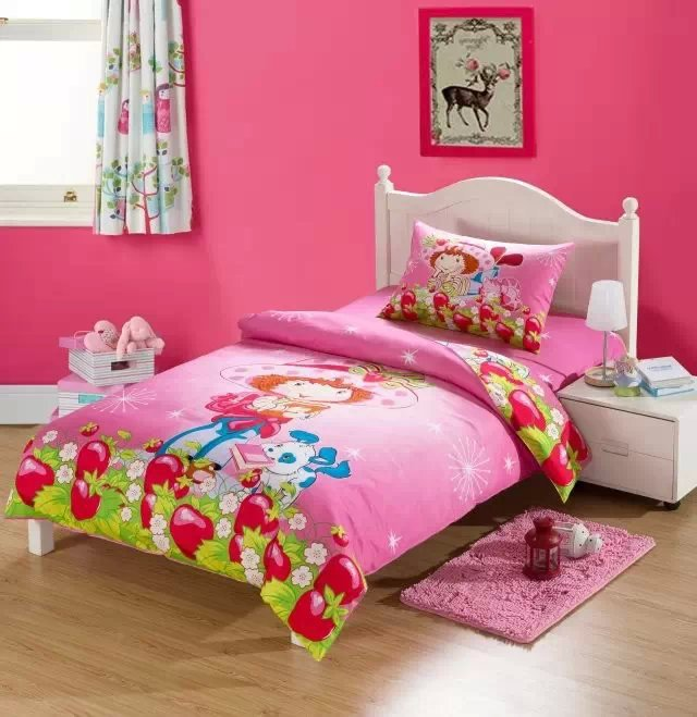 cute girl strawberry shortcake bedding set quilt duvet covers kids