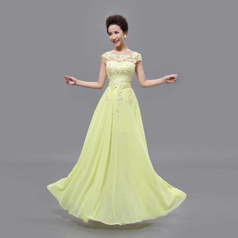 Free shipping cheap long lace red light pink ice blue for Yellow dresses for wedding