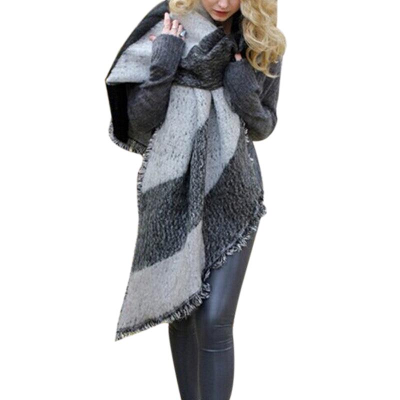 Hot Designer Brand Stitching Plaid Blanket Scarf Women Winter Scarf Elegant Warm Bufandas Cape Poncho Fashion Pashmina Shawls(China (Mainland))