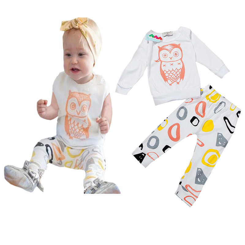 2016 Newborn baby clothes cartoon owl pattern baby rompers Baby works parts Romper infant animals boys girls Jumpsuits outfits(China (Mainland))