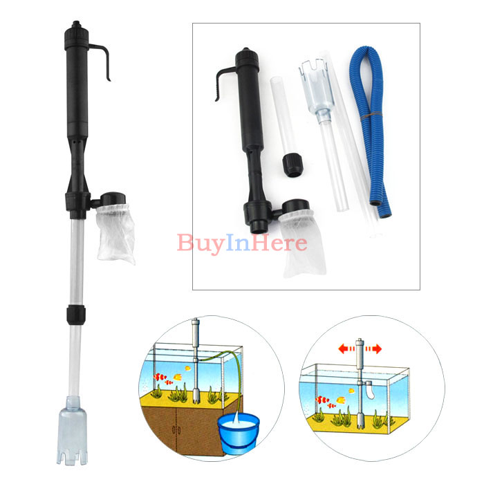 Aquarium Auto Electric Battery Syphon Siphon Fish Tank Vacuum Gravel Water Filter Cleaner Washer Tool Power by C/LR14 Battery RO(China (Mainland))
