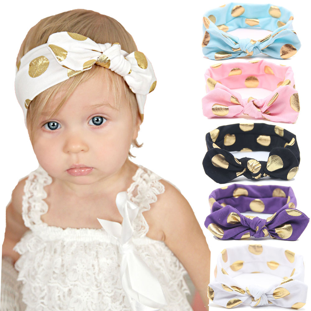 2016 New Baby Cotton Headband Girls Knotted Head Wraps Jersey Knit Headwraps Gold Headband for Newborn Infant Hair Accessories(China (Mainland))