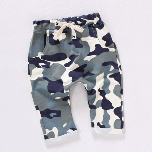 Fashion children camouflage boys pants pattern cropped trousers kids joggers harem pants baby pants for girls clothing(China (Mainland))