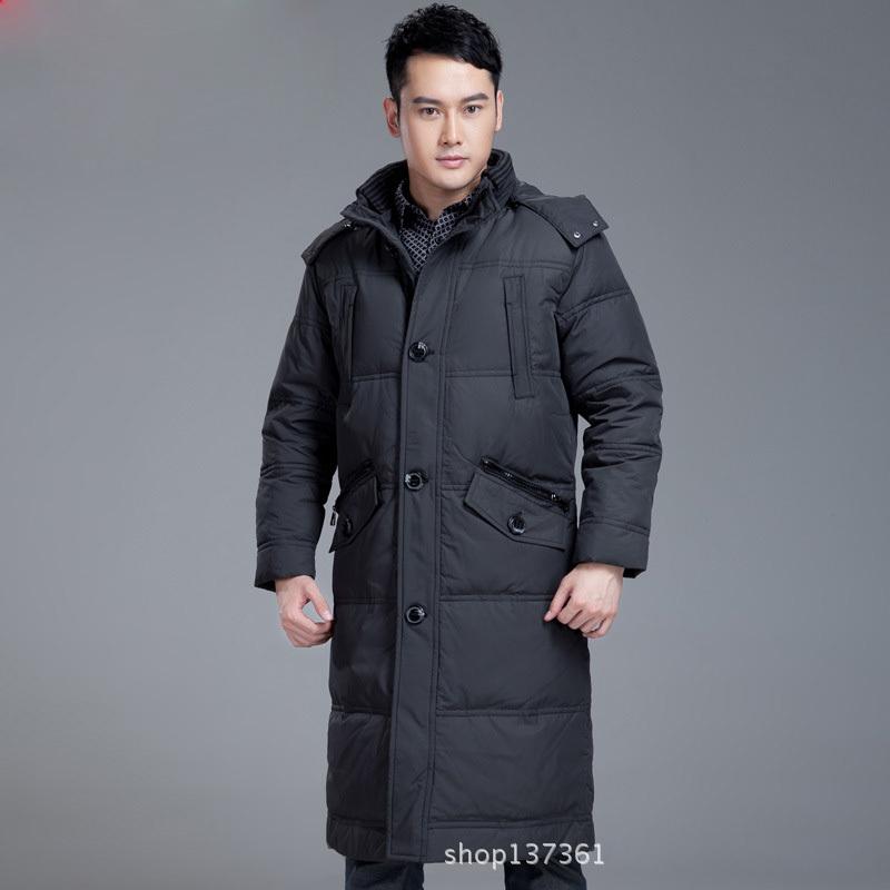 зимние длинное пальто для мужчин 2015 плюс размер XL-5xl белое утка вниз пальто мужчины супер теплая зимняя куртка куртка мужчин DX341
