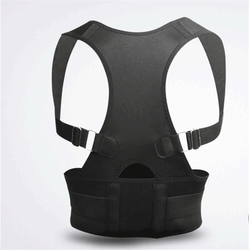 Medical S M L XL XXL Magnetic Posture Corrector Belt Back Support Brace Posture Correction Adjustable Neoprene Lumbar Belt(China (Mainland))