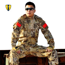 Buy Army Military Uniform Tactical Suit Equipment BDU Desert Camouflage Combat Airsoft CS Hunting Uniform Clothing Set Jacket Pants for $45.00 in AliExpress store