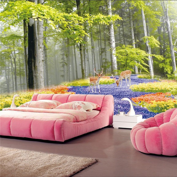 Buy free shipping 3d stereoscopic large for Nature wallpaper for bedroom