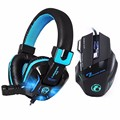 Canleen Stereo Bass Gaming Headphone Noise Canceling with Mic LED Light Game Headset 7 Buttons 5500DPI