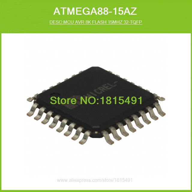 Free Shipping ATMEGA88-15AZ MCU AVR 8K FLASH 15MHZ 32-TQFP 32-TQFP 10pcs(China (Mainland))