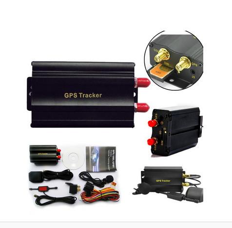 GSM/GPRS Tracking Vehicle Car GPS Tracker tk103a TK103 GPS103A Real time tracker Door shock sensor ACC alarm no retail box(China (Mainland))