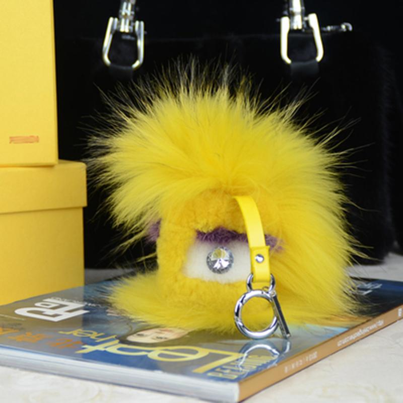 Little monster key chains handbags deserve to act the role of small devil fur accessories car keys<br><br>Aliexpress