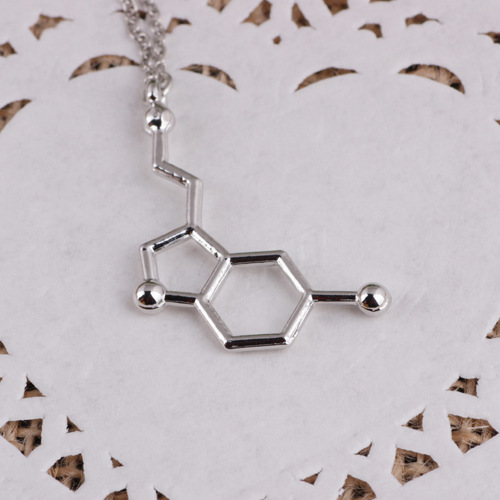 10pcs/lot 3Designs Romantic Love Lovers Choker Necklace The Chemical Structure Necklaces Boy Girl Silver Pendant Necklacesl#131(China (Mainland))