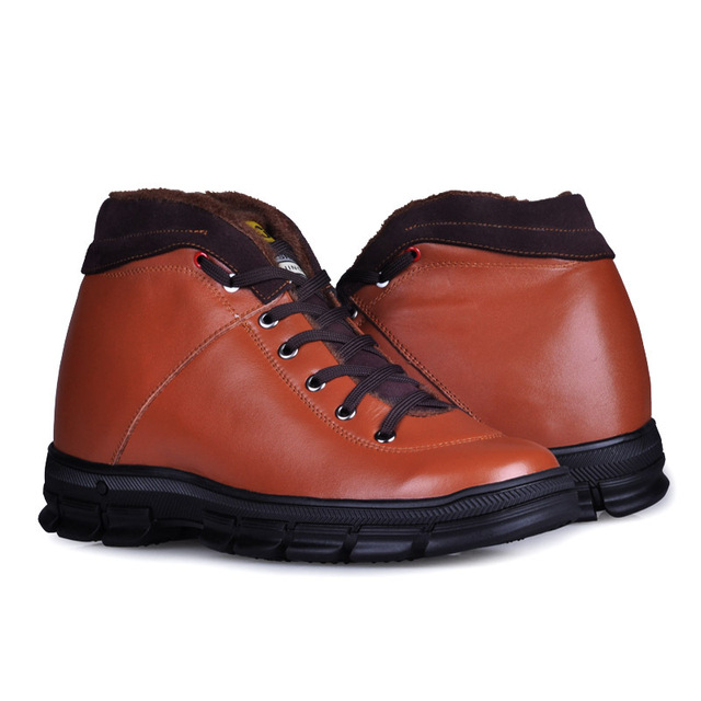 9257_1(Brown)- men's fashion handmade elevator shoes gain you 2.75 inches height autumn shoes new 2013