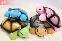 Hot Sales 1 Piece Cute Turtle Plush Doll Creative Musical Starry Turtle Doll Great Baby Sleep Toys(China (Mainland))