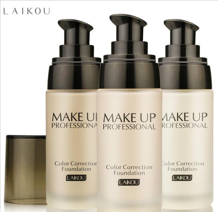 Laikou Makeup 3 Colors Faced Foundation Liquid Long Lasting Moisturizing Oil-control Whitening Base Liquid foundation bb cream(China (Mainland))