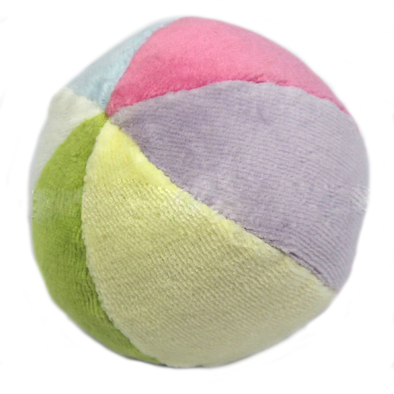 New Colorful Baby Ball Toy Soft Ringing Bell Baby Rattle Ball Early Educational Cotton Bell Toy(China (Mainland))