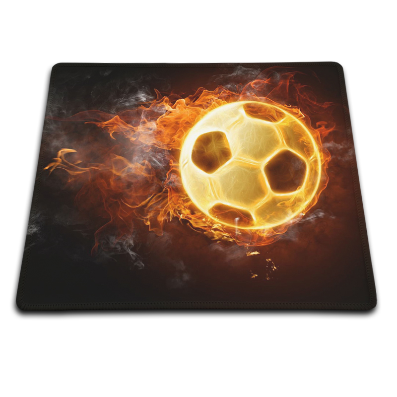 Balls Fire Soccer Fashion Trendy Customized Mouse Pad Good Quality Laptop Computer Silicone Pad to Mouse Game Classy Novelty(China (Mainland))