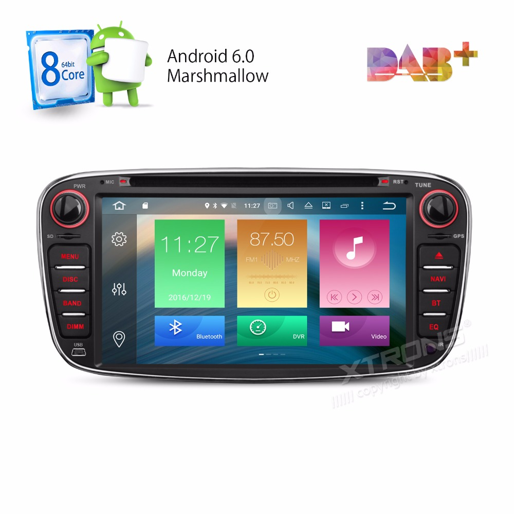 """XTRONS 2 Din 7""""Android 6.0 Octa Core Car DVD Player DAB+WiFi 4G CANbus Online Maps GPS Navigator for Ford Focus II Mondeo S-Max(China (Mainland))"""