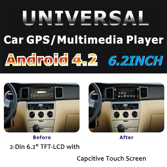 Android 4 2 Car DVD GPS Navigation 2DIN Car Stereo Radio Car GPS Bluetooth USB SD