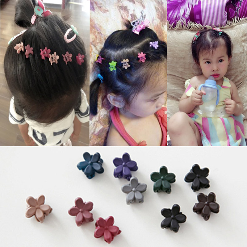 2017 New Small Flower Baby Kids Hair Clips Hair Claws Lovely For Child Cute Hair Accessories Fashion For Student Free Shipping(China (Mainland))
