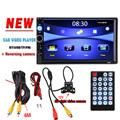 2 Din Car Radio Player Bluetooth Stereo FM MP3 MP4 MP5 Audio Video Multimedia NO DVD