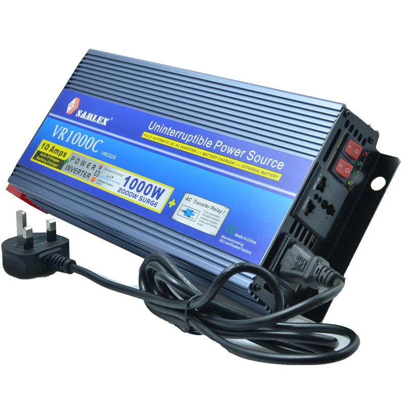 2016 multifunction power inverter 1000W surge 2000W 12v 220v inverter +UPS function+12V Battery Charger , universal socket(China (Mainland))